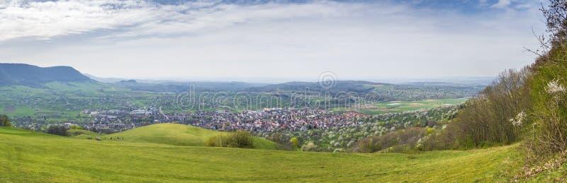 vue panoramique à Owen du château Teck Germany images libres de droits