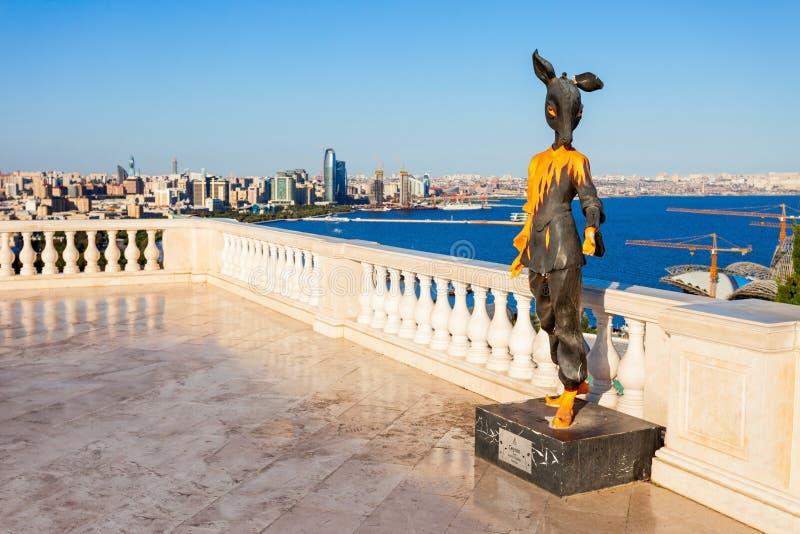Vue panoramique aérienne de Bakou images stock