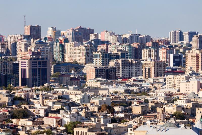 Vue panoramique aérienne de Bakou image libre de droits
