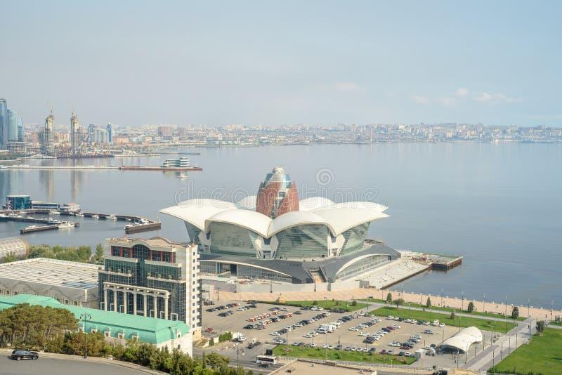 Vue panoramique aérienne de Bakou de Bakou, Azerbaïdjan photographie stock