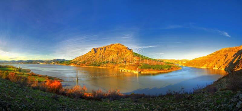 Vue panoramique au barrage de kladenets de Studen, Bulgarie images libres de droits