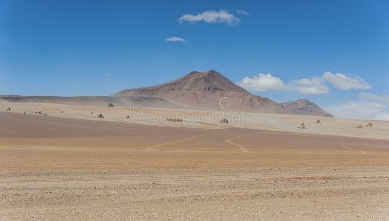 Vue panoramique au-dessus de Salvador Dali Desert en réservation d'Eduardo Avaroa Andean Fauna National, Bolivie photographie stock