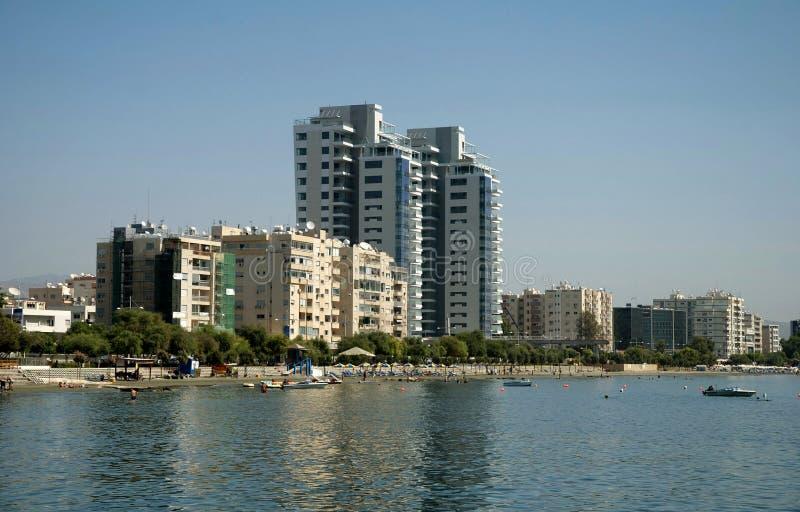 Littoral de Limassol images stock