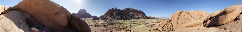 Vue panoramique chez Spitzkoppe, Namibie image stock