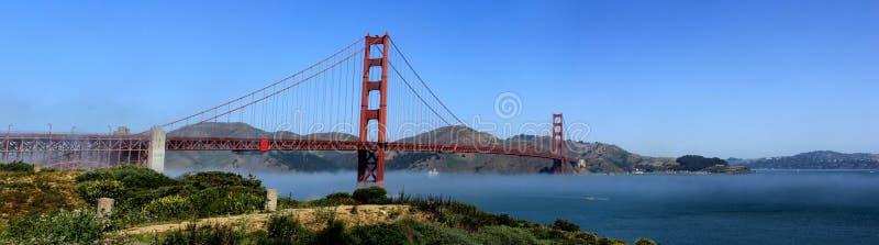 Vue panoramique classique de golden gate bridge célèbre en été, San Francisco, la Californie, Etats-Unis photographie stock libre de droits
