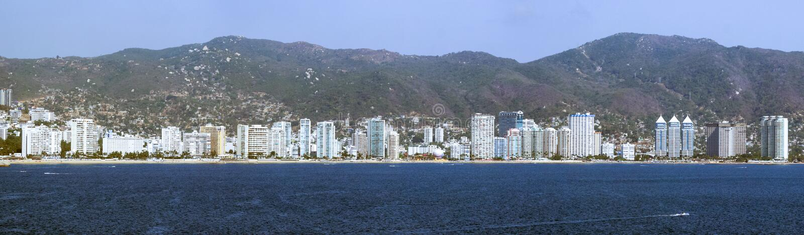 Vue panoramique d'Acapulco photographie stock