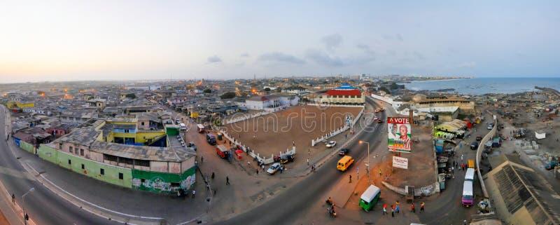 Vue panoramique d'Accra, Ghana photos libres de droits
