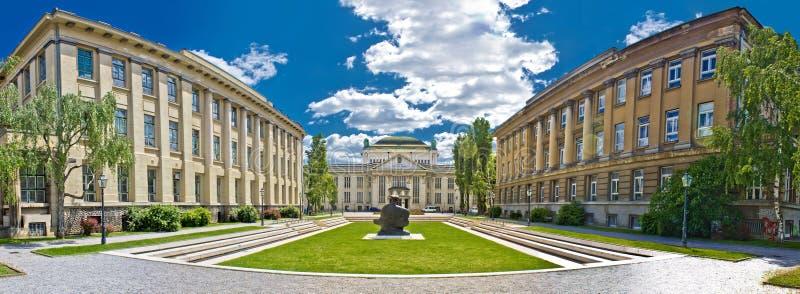 Vue panoramique d'architecture de Zagreb, Croatie image stock
