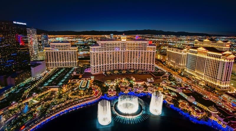 Vue panoramique d'horizon de Las Vegas images libres de droits