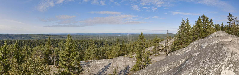Vue panoramique d'horizontal Koli National Park Région de Pielinen ailette photo libre de droits