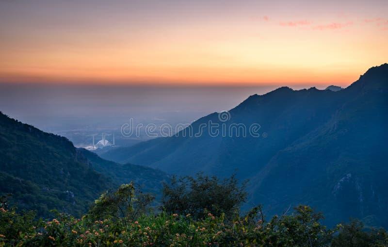 Vue panoramique d'Islamabad, Pakistan image libre de droits
