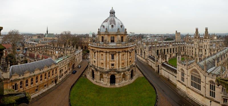 Vue panoramique d'Oxford photos stock