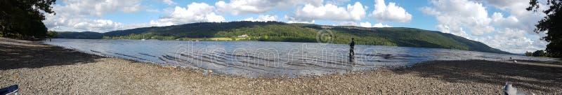Vue panoramique d'ullswater de lac photos stock