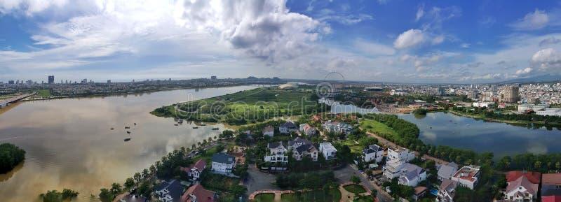 Vue panoramique Danang photographie stock libre de droits