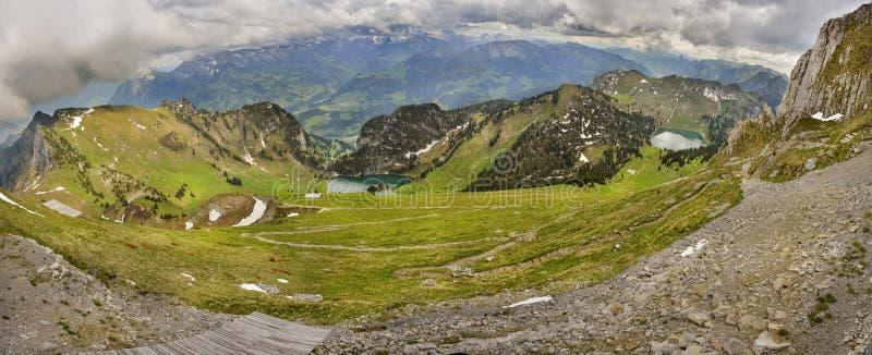 Vue panoramique de Berner Oberland de Stockhorn image libre de droits