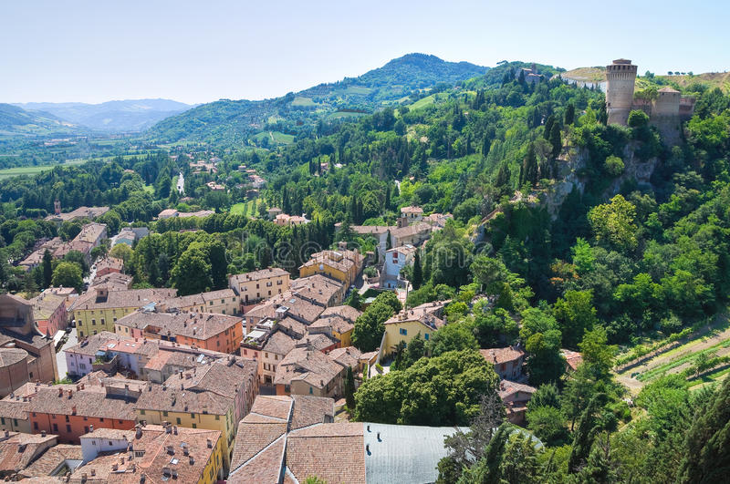 Vue panoramique de Brisighella. l'Emilia-romagna. AIE photo stock