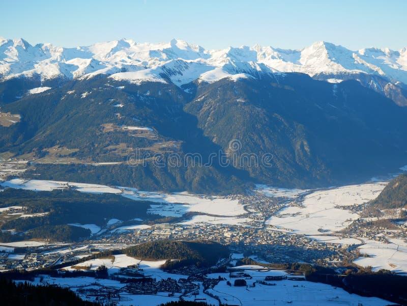 Vue panoramique de Bruneck photo libre de droits