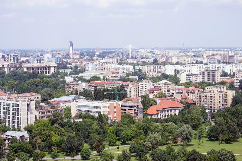Vue panoramique de Bucarest photos stock