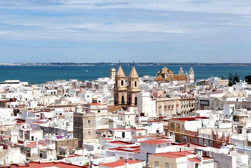 Vue panoramique de Cadix photo libre de droits