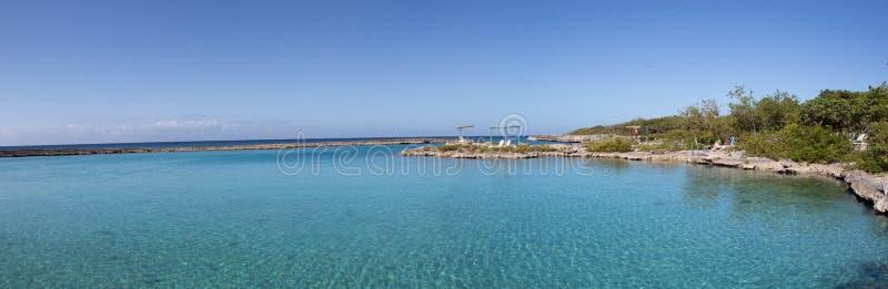 Vue panoramique de Caleta Buena, pr?s de Playa Giron situ? dans la baie des porcs ou du Bahia de cochinos, le Cuba photo libre de droits