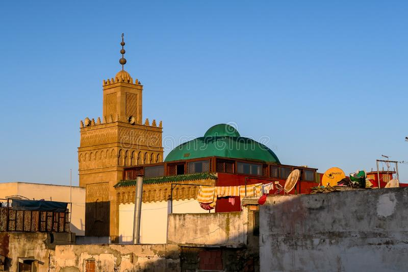 vue panoramique de capital Maroc, photo de ville de Rabat comme fond photographie stock libre de droits