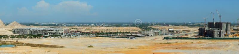 Vue panoramique de chantier de construction images libres de droits
