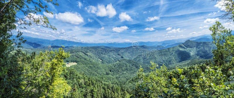 Vue panoramique de colline de Hrb, Vepor, Slovaquie images libres de droits