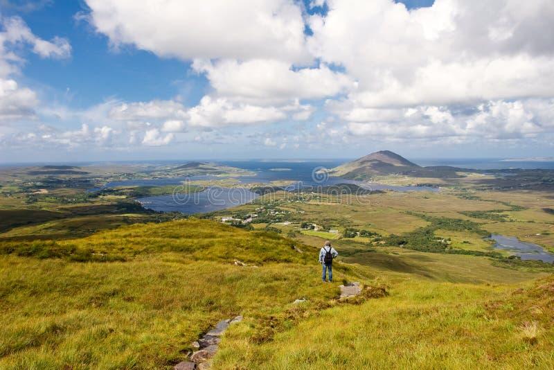 Vue panoramique de Connemara images stock