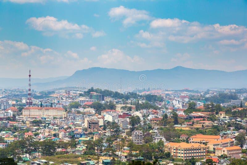 Vue panoramique de Dalat, Vietnam image stock