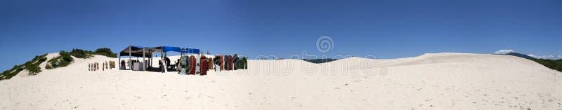 Vue panoramique de dunes de Joaquina, Florianopolis - Brésil photos libres de droits