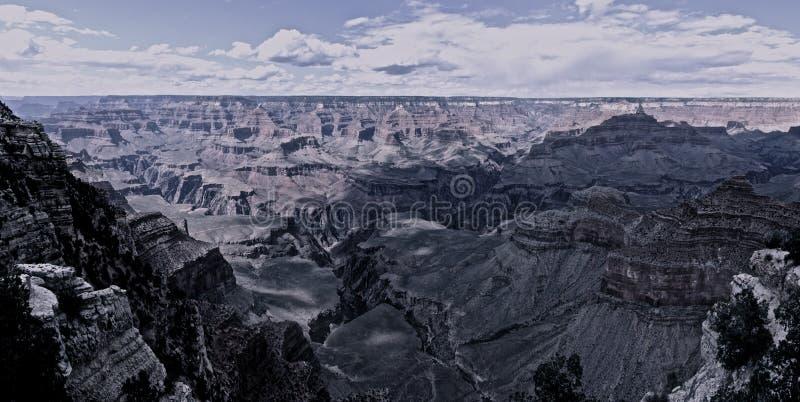Vue panoramique de gorge grande photos libres de droits