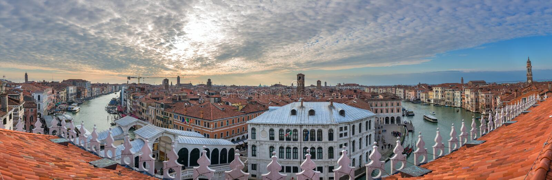 Vue panoramique de Grand Canal célèbre à Venise photo libre de droits
