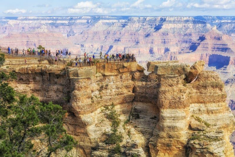 Vue panoramique de Grand Canyon, point de vue à la jante du sud images libres de droits