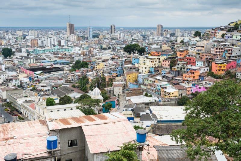 Vue panoramique de Guayaquil, Equateur photo stock