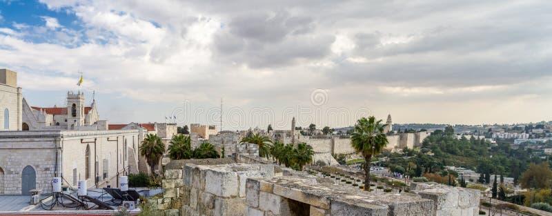 Vue panoramique de Jérusalem en Israël images libres de droits