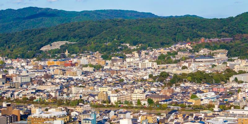 Vue panoramique de Kyoto japan images libres de droits