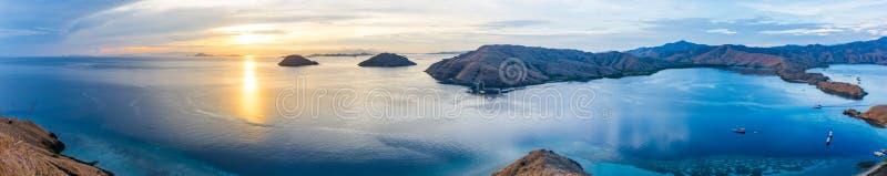 Vue panoramique de l'archipel de Komodo photo libre de droits