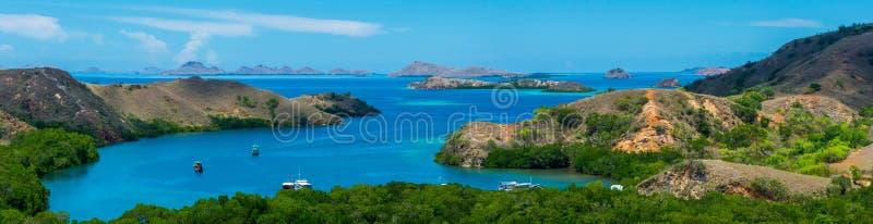 Vue panoramique de l'archipel de Komodo photographie stock libre de droits