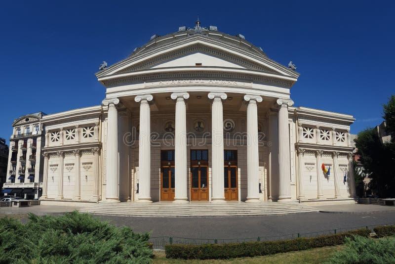 Vue panoramique de l'Athenaeum roumain photos libres de droits