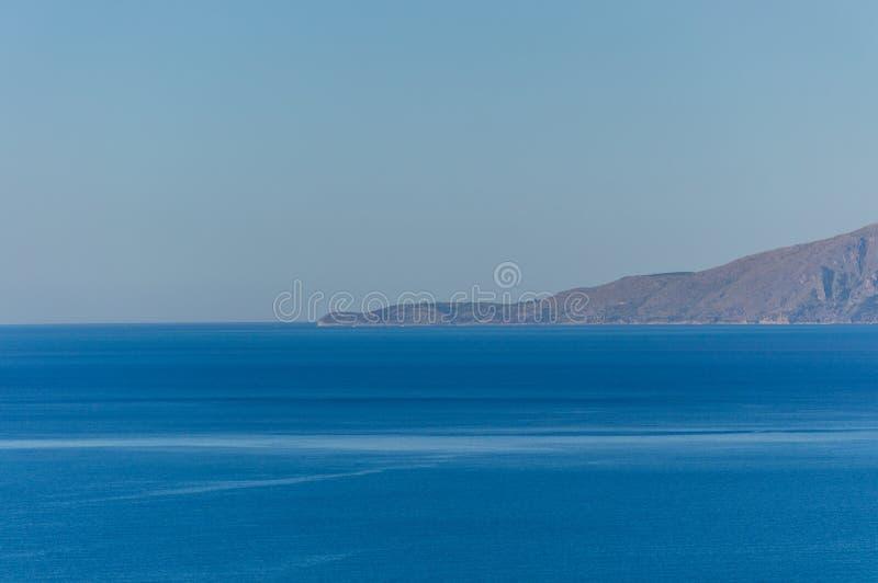 Vue panoramique de la côte tyrrhénienne de Basilicate près de Maratea images libres de droits