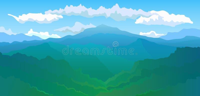 vue panoramique de la gamme de montagne illustration de vecteur illustration du image nuages. Black Bedroom Furniture Sets. Home Design Ideas