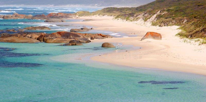 Vue panoramique de la plage et de l'océan, Danemark, Australie images libres de droits
