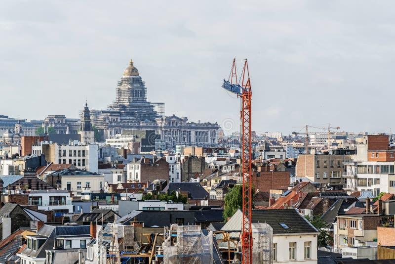 Vue panoramique de la ville de Bruxelles photo libre de droits