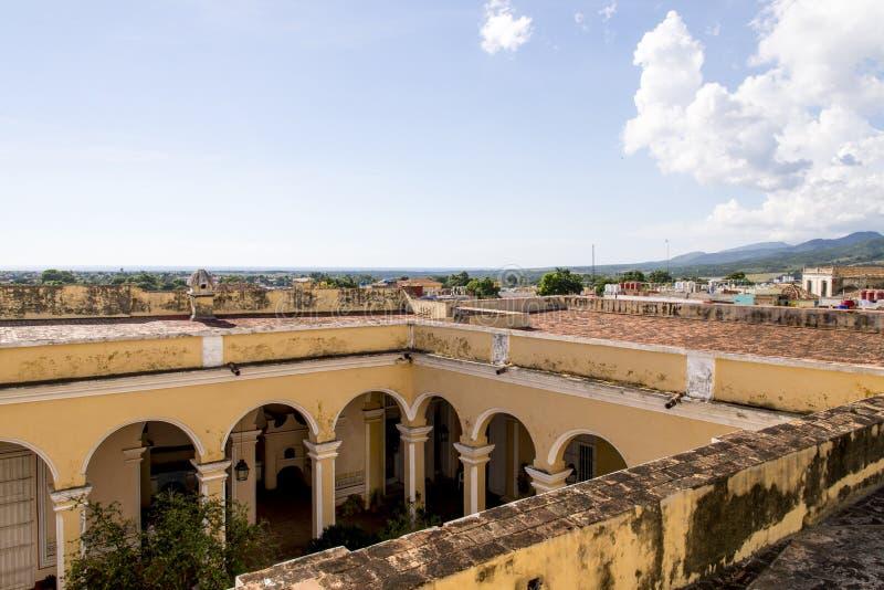 Vue panoramique de la ville historique du Trinidad, Cuba photographie stock libre de droits