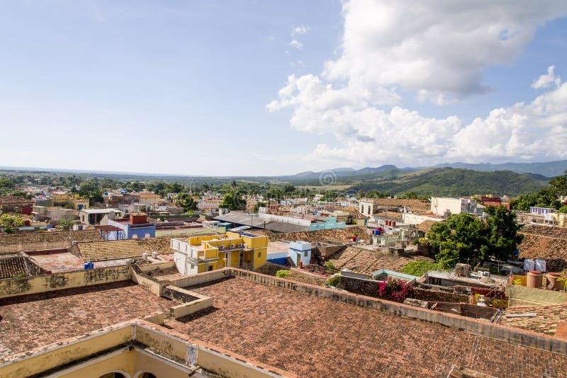 Vue panoramique de la ville historique du Trinidad, Cuba photos stock