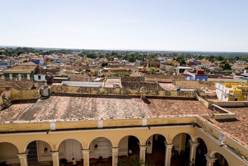 Vue panoramique de la ville historique du Trinidad, Cuba images stock
