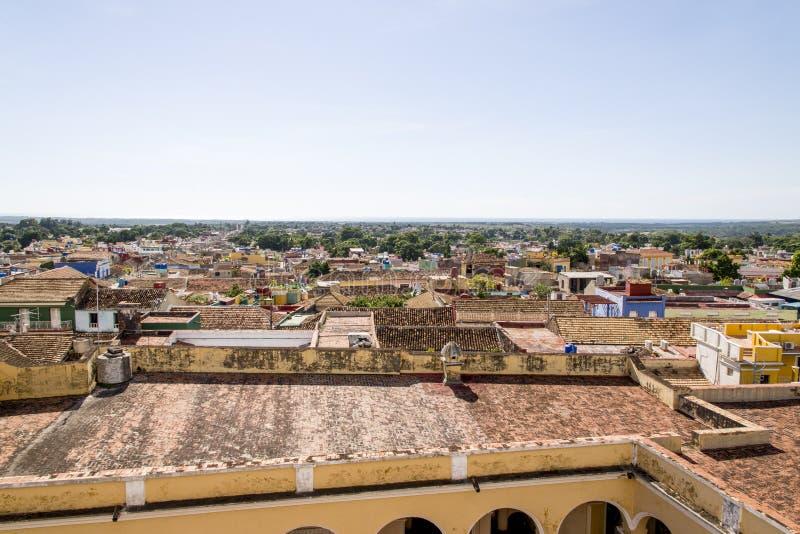 Vue panoramique de la ville historique du Trinidad, Cuba photo stock