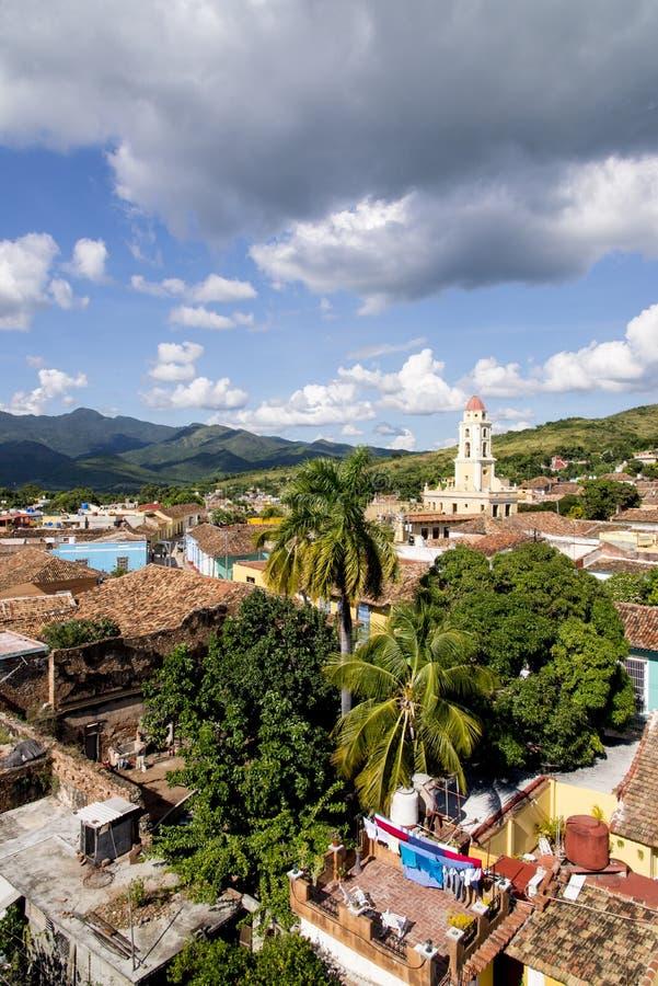 Vue panoramique de la ville historique du Trinidad, Cuba image libre de droits