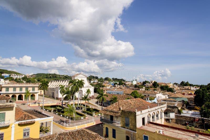 Vue panoramique de la ville historique du Trinidad, Cuba image stock