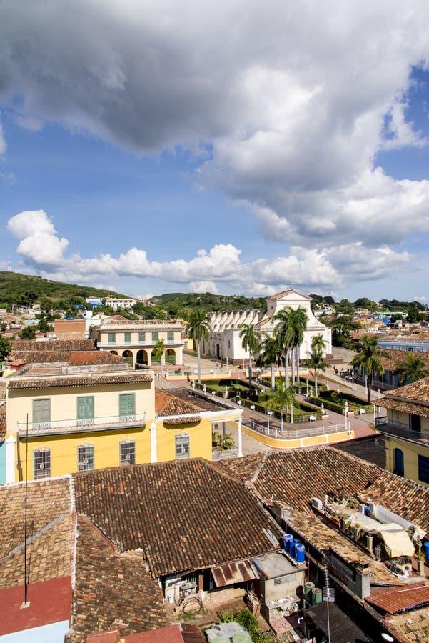 Vue panoramique de la ville historique du Trinidad, Cuba photographie stock